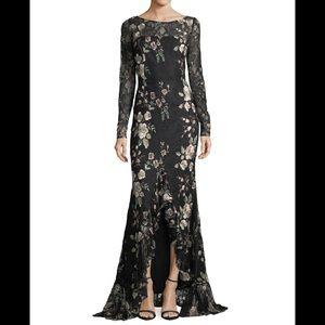 Zac zaz posen bobbie floral lace gown